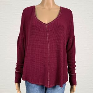 Anthropologie Saturday Sunday V-neck Thermal Shirt